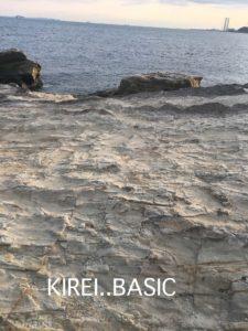 たたら浜の岩・地層