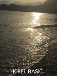 たたら浜の夕方