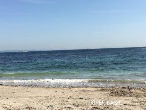 観音崎の海はきれい(たたら浜)