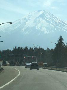 富士山を見ながらドライブ