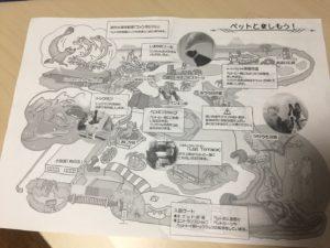 京急油壺マリンパークのペット同伴の方向けの専用マップ