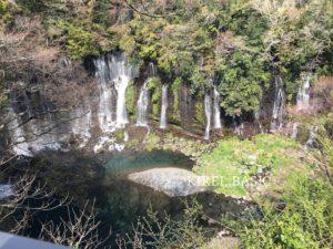 上から見た白糸の滝