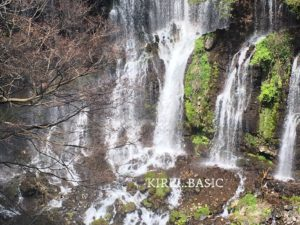 白糸の滝に上からズームした写真