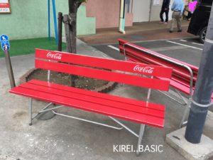 オギノパンのベンチ