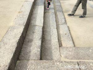 小田原城の階段