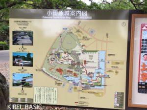 小田原城案内図の看板