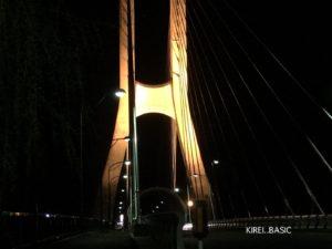 尾瀬大橋を下から見た