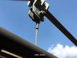吊り橋の接続部分