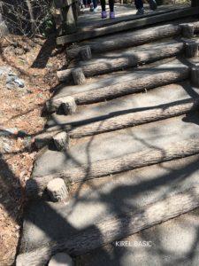 吹割渓谷の階段