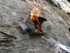 バーベキュー火起こし