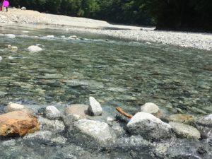 大滝キャンプ場の川の水がきれい