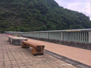 浦山ダムの遊歩道