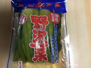 諏訪湖パーキングで売り上げNo2の野沢菜漬物