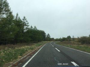 美ヶ原高原の道路