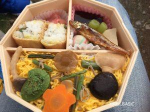 JR松本駅で購入したお弁当、ちらし寿司