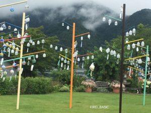 河口湖ミューズ館の風鈴が素敵