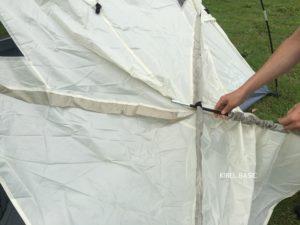 テントのリビング天井